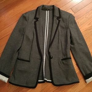 Express Gray Knit Blazer